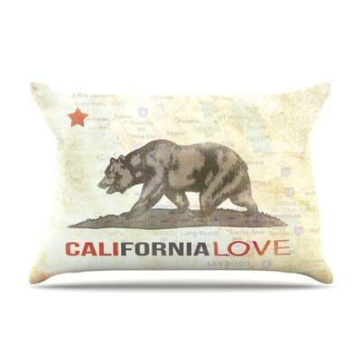 Cali Love by iRuz33 Featherweight Pillow Sham Size: King, Fabric: Woven Polyester