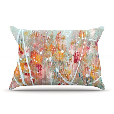 Joy by Iris Lehnhardt Featherweight Pillow Sham Size: Queen, Fabric: Woven Polyester