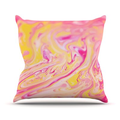 Bubble Gum by Ingrid Beddoes Throw Pillow Size: 26 H x 26 W x 5 D