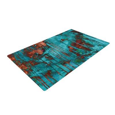 Iris Lehnhardt Paint Rusty/Teal Area Rug Rug Size: 2 x 3
