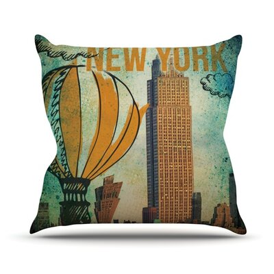 New York Outdoor Throw Pillow Size: 18 H x 18 W x 3 D