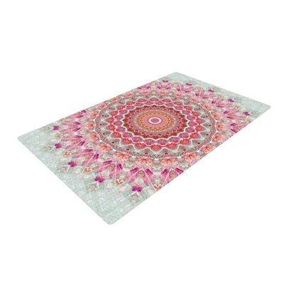 Iris Lehnhardt Summer Lace III Circle Pink/Green Area Rug Rug Size: 4 x 6