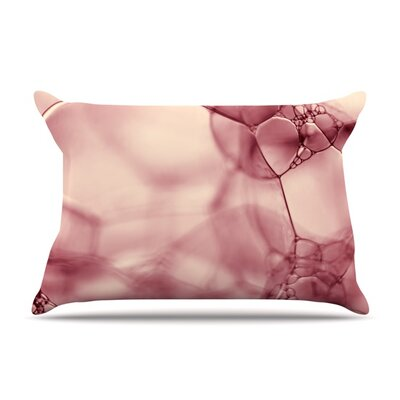 Pink Bubbles by Ingrid Beddoes Featherweight Pillow Sham Size: Queen, Fabric: Woven Polyester
