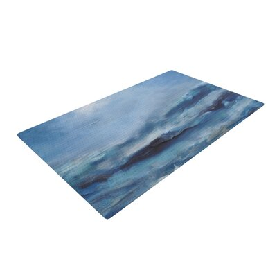 Iris Lehnhardt Rough Sea Ocean Blue Area Rug Rug Size: 4 x 6