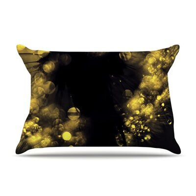 Moonlight Dandelion by Ingrid Beddoes Featherweight Pillow Sham Size: Queen, Fabric: Woven Polyester