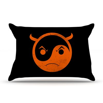Yin Yang Diablo by Frederic Levy-Hadida Featherweight Pillow Sham Size: Queen, Fabric: Woven Polyester