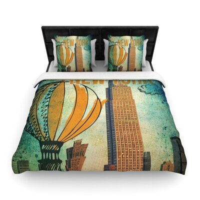 New York Woven Comforter Duvet Cover Size: King