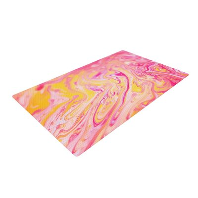 Ingrid Beddoes Bubble Gum Pink/Yellow Area Rug Rug Size: 2 x 3