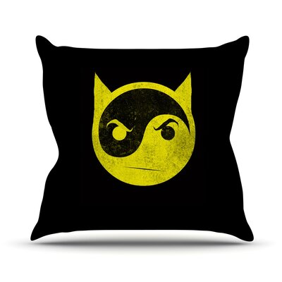 Bat Yin by Frederic Levy-Hadida Throw Pillow Size: 16 H x 16 W x 1 D