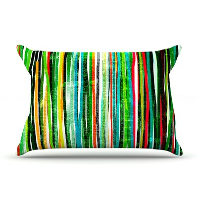 Frederic Levy-Hadida Fancy Stripes Dark Pillow Case Color: Green