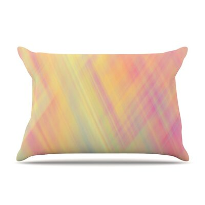 Pastel Abstract by Ingrid Beddoes Featherweight Pillow Sham Size: King, Fabric: Woven Polyester