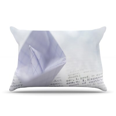 At Sea by Ingrid Beddoes Featherweight Pillow Sham Size: King, Fabric: Woven Polyester