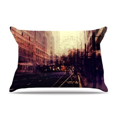 London by Ingrid Beddoes Featherweight Pillow Sham Size: Queen, Fabric: Woven Polyester