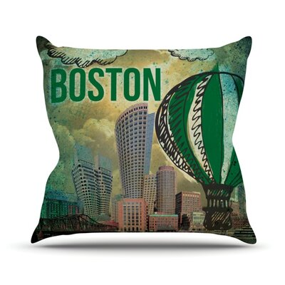 Boston Outdoor Throw Pillow Size: 16 H x 16 W x 3 D