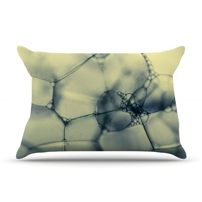 Blue Bubbles by Ingrid Beddoes Featherweight Pillow Sham Size: King, Fabric: Woven Polyester