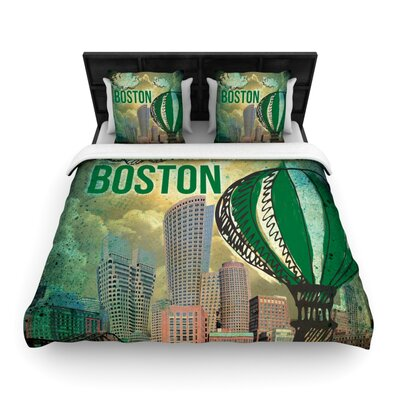 Boston Woven Comforter Duvet Cover Size: Full/Queen