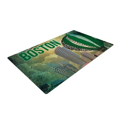Boston Green/Yellow Area Rug Rug Size: 2 x 3