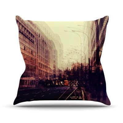 London by Ingrid Beddoes Throw Pillow Size: 26 H x 26 W x 5 D