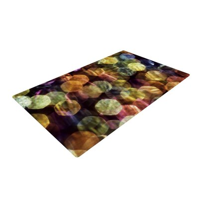 Ingrid Beddoes Warm Sparkle Yellow/Pink Area Rug Rug Size: 2 x 3