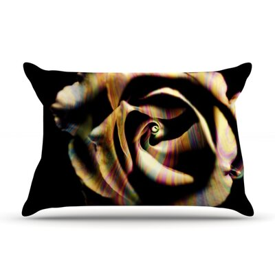 Rose Swirl by Ingrid Beddoes Featherweight Pillow Sham Size: King, Fabric: Woven Polyester