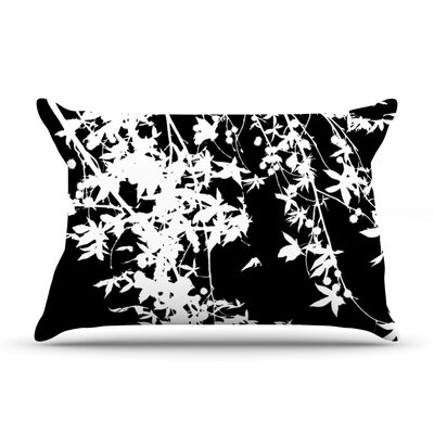 White on Black by Ingrid Beddoes Featherweight Pillow Sham Size: King, Fabric: Woven Polyester
