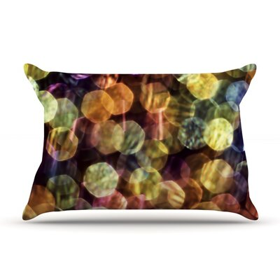 Warm Sparkle by Ingrid Beddoes Featherweight Pillow Sham Size: King, Fabric: Woven Polyester