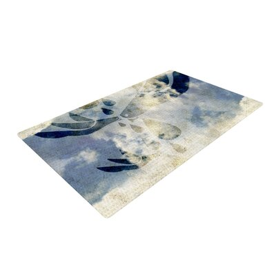 iRuz33 Doves Cry Blue/White Area Rug Rug Size: 4 x 6