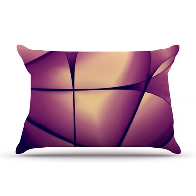 Paper Heart by Ingrid Beddoes Featherweight Pillow Sham Size: King, Fabric: Woven Polyester
