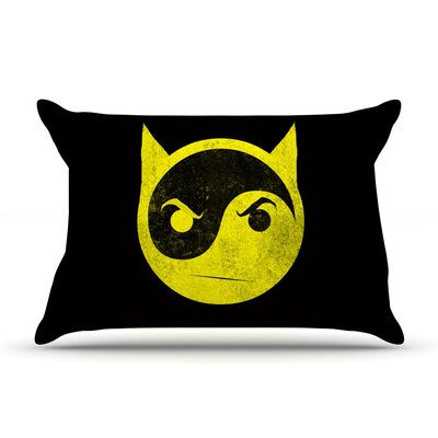 Bat Yin by Frederic Levy-Hadida Featherweight Pillow Sham Size: Queen, Fabric: Woven Polyester