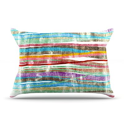 Frederic Levy-Hadida Fancy Stripes Light Pillow Case Color: Light