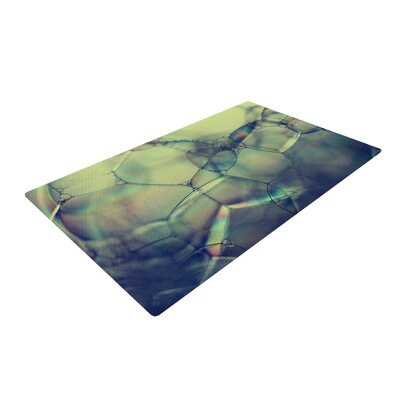 Ingrid Beddoes Bubblicious Green/Blue Area Rug Rug Size: 2 x 3