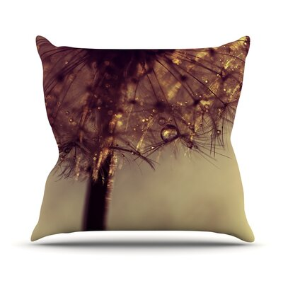 Droplets of Gold by Ingrid Beddoes Throw Pillow Size: 16 H x 16 W x 3 D