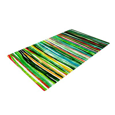 Frederic Levy-Hadida Fancy Stripes Green Area Rug