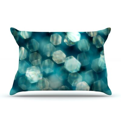Shades of Blue by Ingrid Beddoes Featherweight Pillow Sham Size: King, Fabric: Woven Polyester