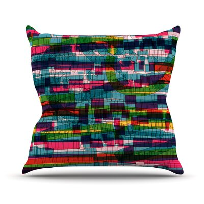 Squares Traffic by Frederic Levy-Hadida Throw Pillow Color: Pastel, Size: 18 H x 18 W x 1 D