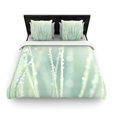Blue Ice by Ingrid Beddoes Featherweight Duvet Cover Size: Twin, Fabric: Woven Polyester