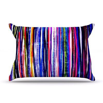 Frederic Levy-Hadida Fancy Stripes Dark Pillow Case Color: Purple