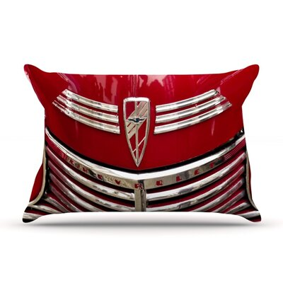 Red Chevy by Ingrid Beddoes Featherweight Pillow Sham Size: King, Fabric: Woven Polyester