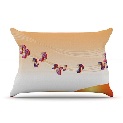 Nature Music by Fotios Pavlopoulos Featherweight Pillow Sham Size: King, Fabric: Woven Polyester