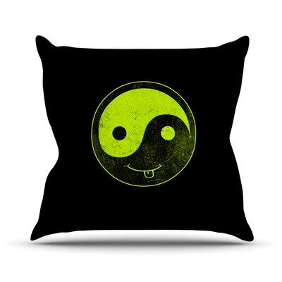 Bad Ass Ying Yang by Frederic Levy-Hadida Throw Pillow Size: 18 H x 18 W x 1 D