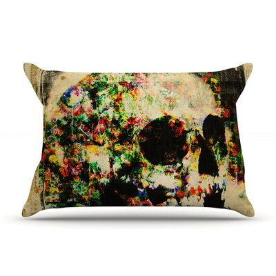 Frederic Levy-Hadida Floral Skully Pillow Case