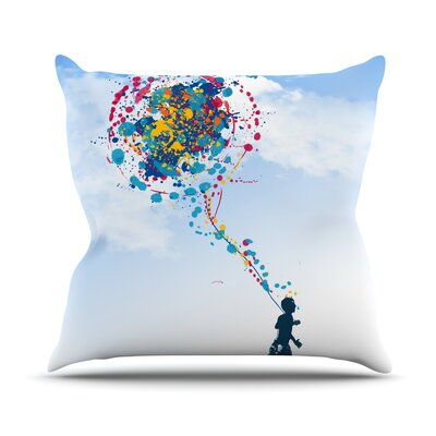 Child Creation Chronicle by Frederic Levy-Hadida Throw Pillow Size: 20 H x 20 W x 1 D