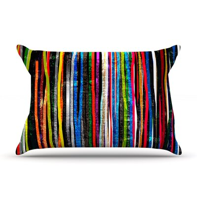 Frederic Levy-Hadida Fancy Stripes Dark Pillow Case Color: Dark