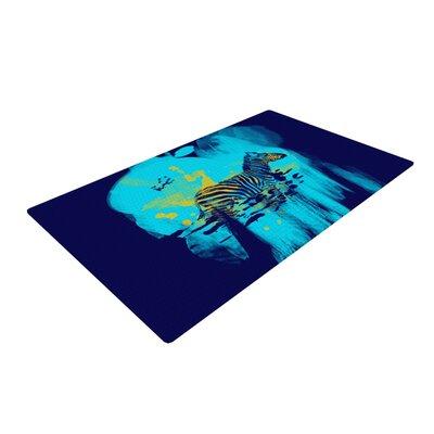 Frederic Levy Hadida Zebra Blue Area Rug Rug Size: 4 x 6