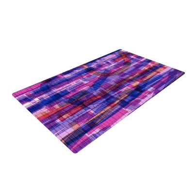 Frederic Levy Hadida Squares Traffic Pink Area Rug
