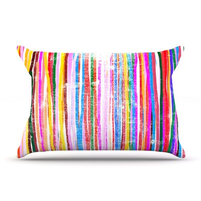 Frederic Levy-Hadida Fancy Stripes Dark Pillow Case Color: Pastel