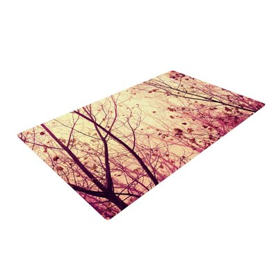Ingrid Beddoes My Secret Garden Gold/Pink Area Rug Rug Size: 2 x 3