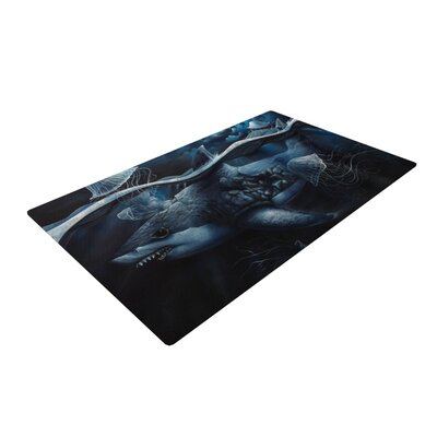Graham Curran Invictus Black Area Rug Rug Size: 4 x 6