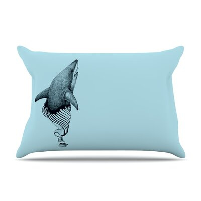 Shark Record II by Graham Curran Featherweight Pillow Sham Size: King, Fabric: Woven Polyester