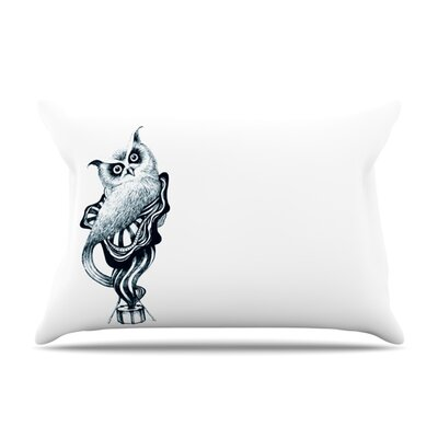 Owl by Graham Curran Featherweight Pillow Sham Size: King, Fabric: Woven Polyester